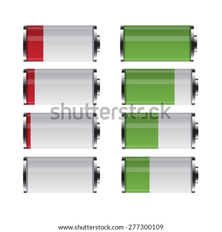 Symbols Battery. design for you - stock vector