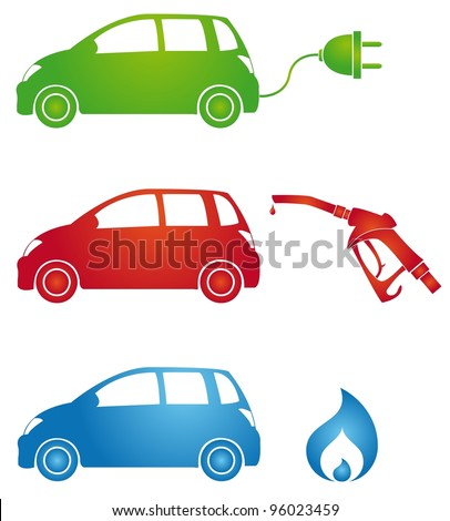 symbols for different fuels - stock vector