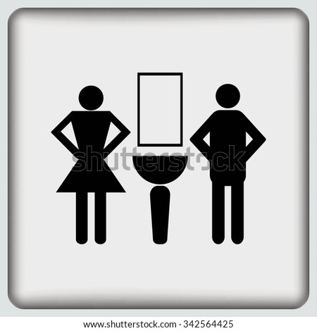 Symbols inlet to the toilet. icon - stock vector