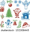 symbols of christmas - stock vector
