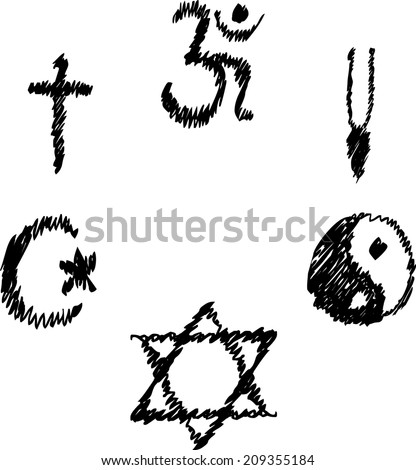 Symbols Different Religions Stock Photo Photo Vector Illustration