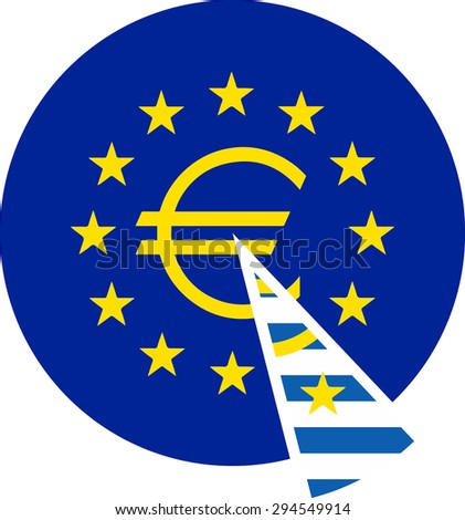 Symbols United Europe Euro Greece Form Stock Vector Hd Royalty Free