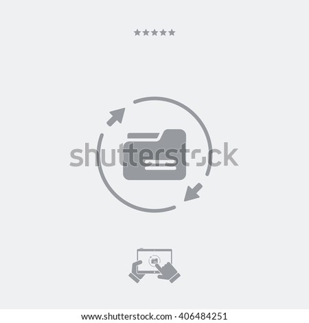 Sync folder icon, sync folder vector, sync folder symbol, sync folder design, sync folder app, sync folder illustration, sync folder JPG. PART OF A SET, visit my portfolio. - stock vector