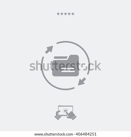 Sync folder - Minimal essential icon - stock vector