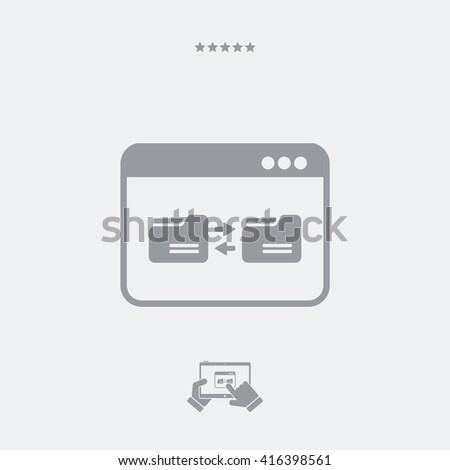 Sync folders - stock vector