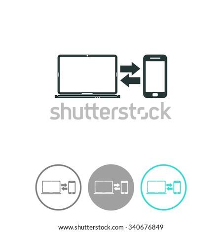 Synchronization vector icon.  - stock vector