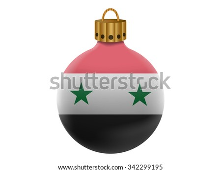 syria christmas ball isolated - stock vector