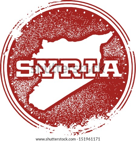 Syria Country Rubber Stamp - stock vector