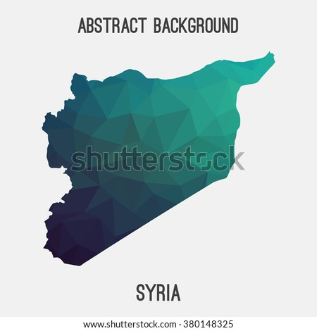 Syria map in geometric polygonal style.Abstract tessellation,modern design background. Vector illustration EPS8 - stock vector