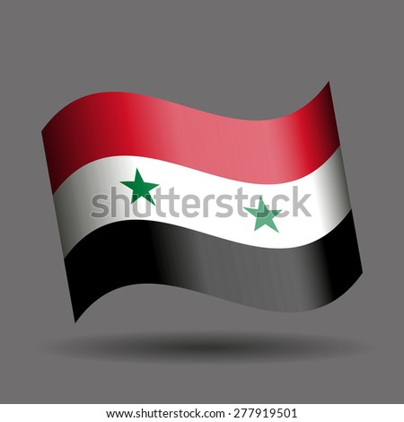 Syria waving flag - stock vector