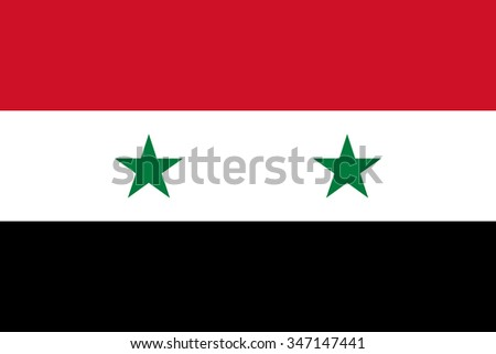 Syrian flag in correct proportions and colors - stock vector