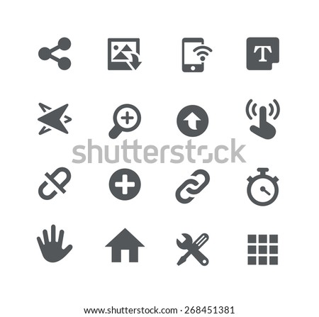 System Icons // Apps Interface - stock vector