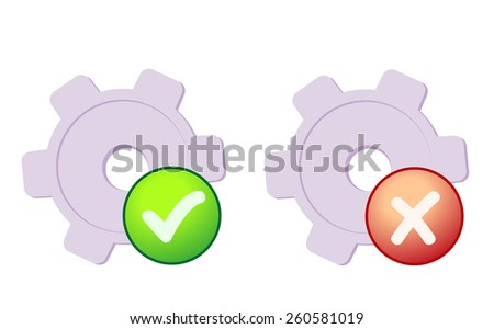 System preferences icon - stock vector