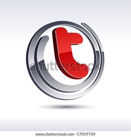 T 3d vector icon such logos. - stock vector