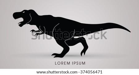 T rex dinosaur graphic vector - stock vector