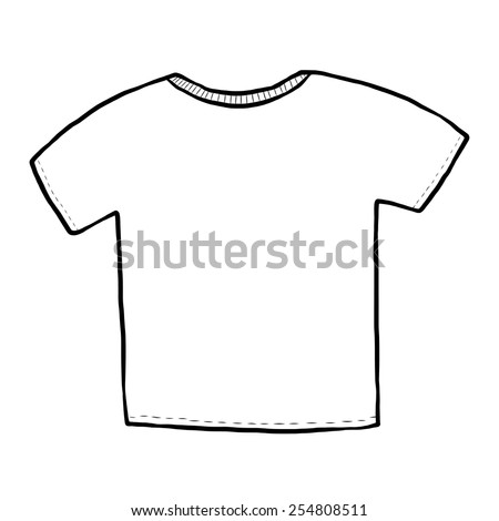 T-shirt / cartoon vector and illustration, black and white, hand drawn, sketch style, isolated on white background.