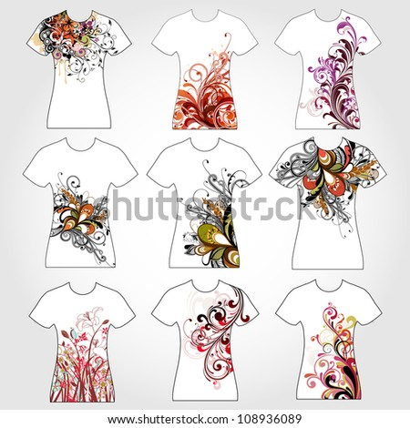 T-shirt design - stock vector