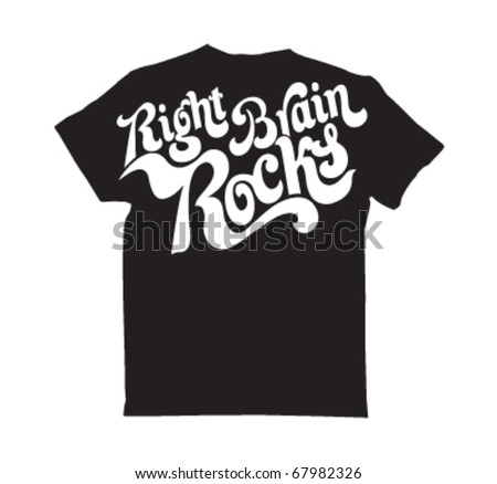 t shirt design - stock vector