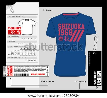 T-Shirt Design. Print Design. College - Varsity T-Shirt. Vector eps. Eps10 - stock vector