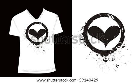 t-shirt design template. editable vector illustration - stock vector