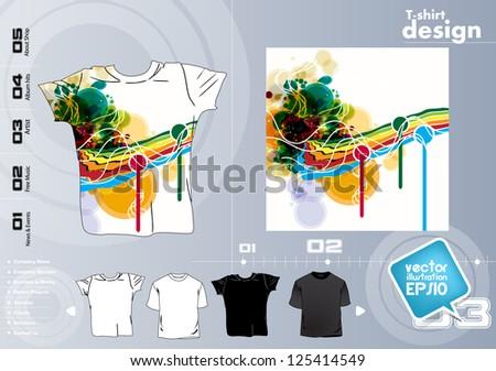 T-shirt design. Vector illustration - stock vector