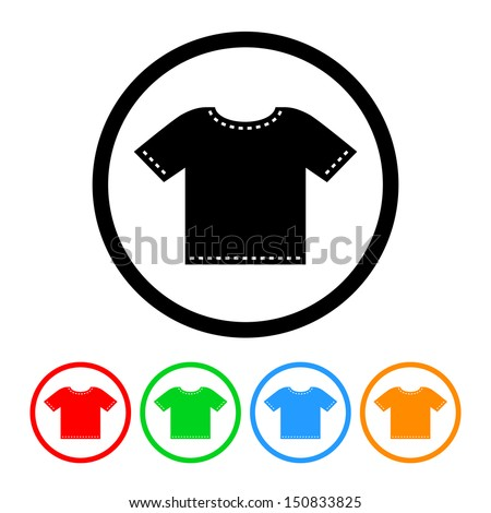 T-Shirt Icon in Vector Format with Color Variations - stock vector