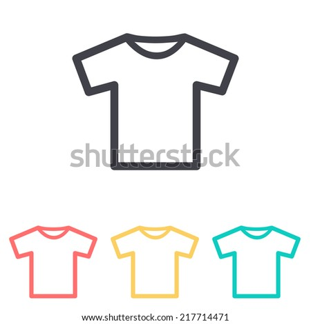 T-shirt icon , vector illustration - stock vector