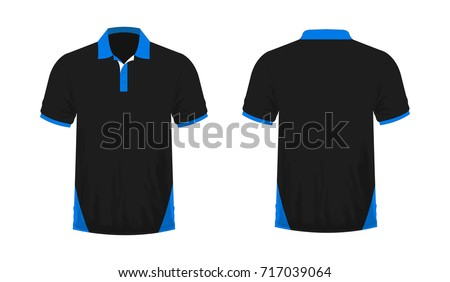 Tshirt Polo Blue Black Template Design Stock Vector (Royalty Free ...