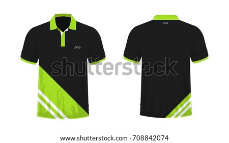 Tshirt polo green black template design stock vector for Polo t shirt design images