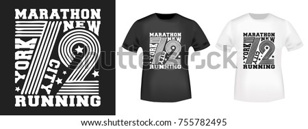 Applique stock images royalty free images vectors for Marathon t shirt printing