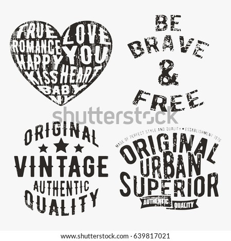 Tshirt print design mountains vintage stamp stock vector for T shirt printing and labeling