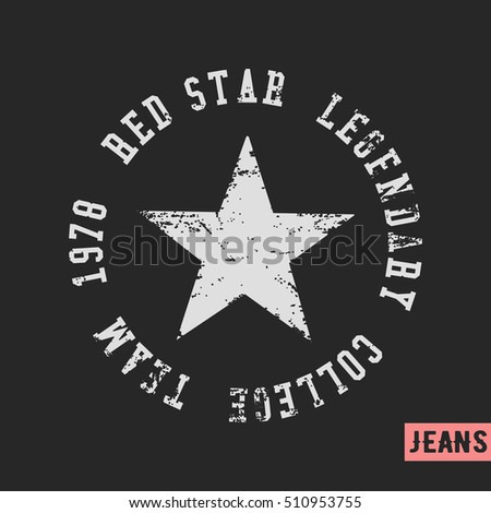 Vintage star stock images royalty free images vectors for T shirt printing and labeling