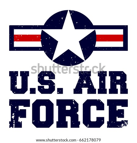 Armed Forces Gear Mens Air Force Vintage Basic T-Shirt