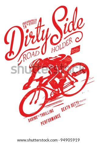 t-shirt printing logo template abstract bicycle for apparel