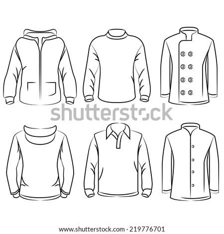 Tshirt Sketch Design Template Sweatshirt Stock Vector - Sweatshirt design template