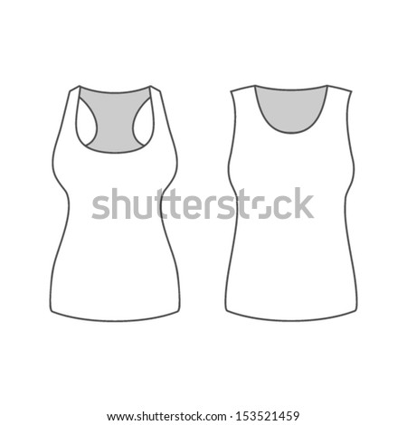 Mesh sleeveless t shirt template stock vector 622000142 shutterstock t shirt template pronofoot35fo Image collections