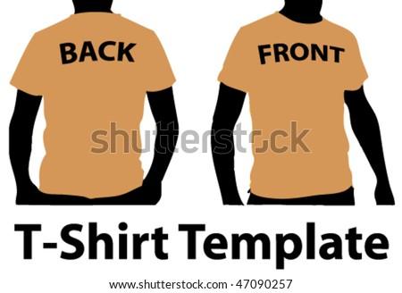 T-Shirt Template 2 - stock vector