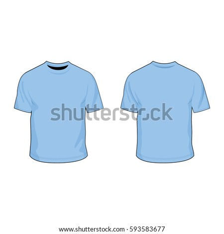 T Shirt Template Light Blue Stock-Vektorgrafik 593583677 – Shutterstock