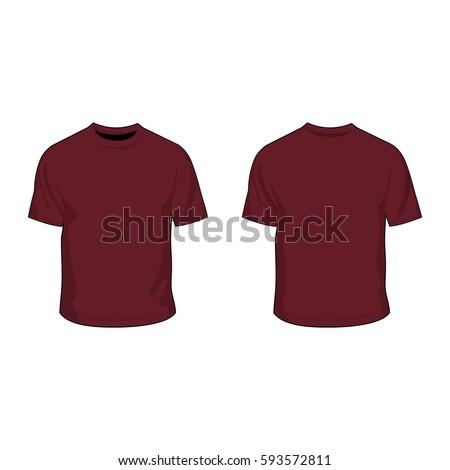 T Shirt Template Maroon Stock Vector   Shutterstock