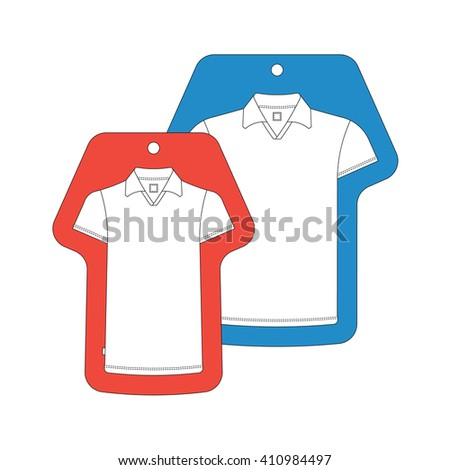 Tshirt Template Tag Vector Tshirts Tags Stock Vector