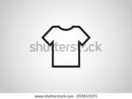 T-shirt vector icon - stock vector