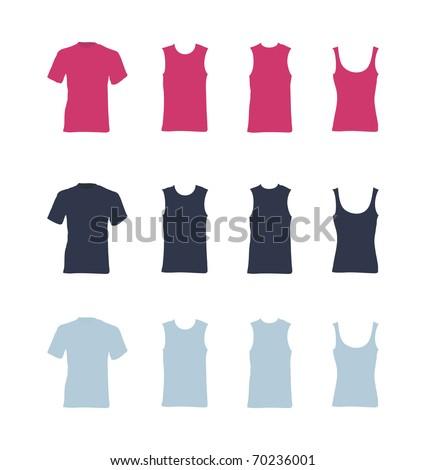 t-shirt vector templates - stock vector