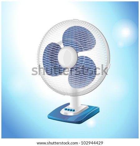 table fan - vector illustration - stock vector