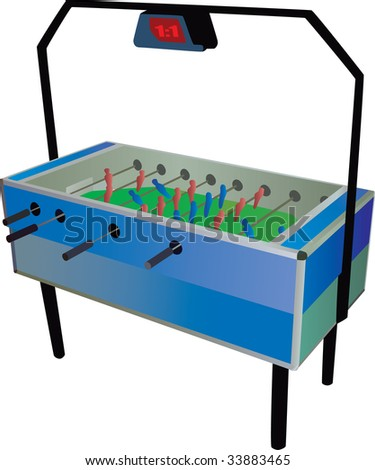 Table football - stock vector