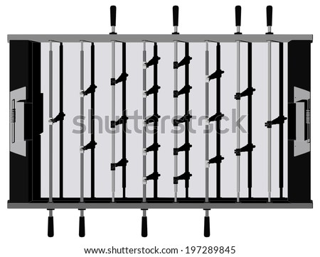 Table Football And Soccer Game Perspective Vector 11 - stock vector