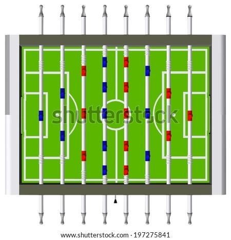 Table Football Soccer Game Vector 08 - stock vector