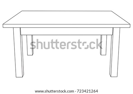 Table furniture wireframe blueprint linear outline stock vector hd table furniture wireframe blueprint linear outline stock vector hd royalty free 723421264 shutterstock malvernweather