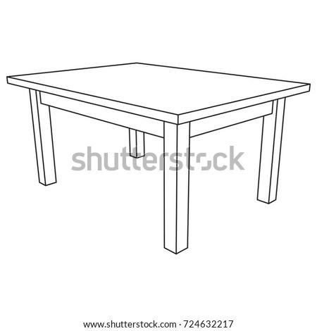 Table furniture wireframe blueprint linear outline stock vector table furniture wireframe blueprint linear outline stock vector 2018 724632217 shutterstock malvernweather