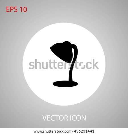 table lamp - stock vector