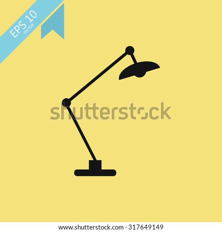 table lamp icon vector illustration